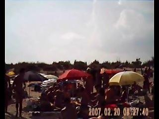 Loralee From Dates25.com - Blowjob On Nudist French Beach