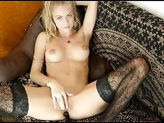 Webcam - Perfect Blonde On Her First Night Fingers Clit (short Clip)