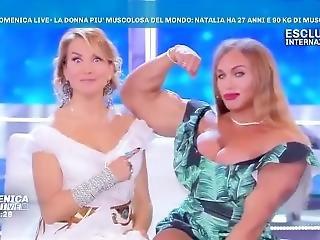 Fbb Natalia Trukhina (amazonka) Fires Her Guns On Tv !!