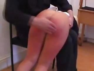 Knickers Down And Over She Goes - Babe Spanked