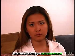 Help The Asian Chick Masturbating Her Pussy