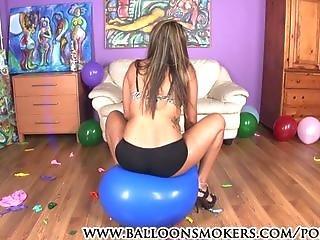 balon, fetisch, hacken, hohe hacken, sexy, Jugendliche, jung