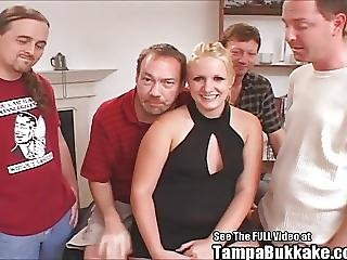 Chubby Teen Blonde Gangbang Bukkake