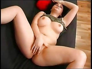 Delicious Chubby Teen Fingering Her Pink Shaven Pussy