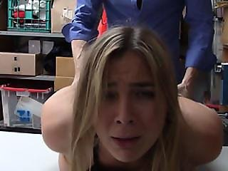 Pretty Blonde Shoplifter Blair Got Fucked Hard