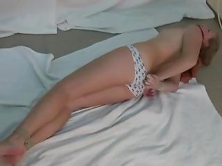 babe, blond, bondage, mundkurv