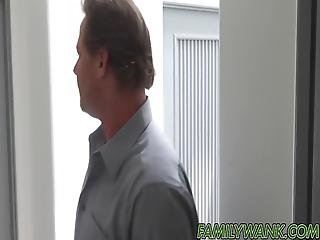 Stepmom Catches Bitchy Teen Fucking With Daddy And Watches