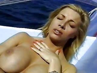 Horny Blond Milf Fucked On Boat Near To Beach