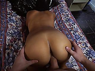 Horny Hot Babe Having A Meaty Cock Inside Her Juicy Pussy