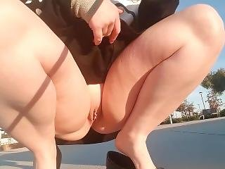 Short Skirt, No Panties, Public