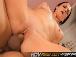 Hdvpass Cool Looking Chick Blows And Fucks Like A Pro