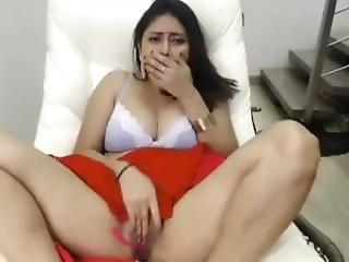 amatör, brud, brunett, snygg, indianska, solo, webcam, fru