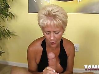 Granny Gives Awesome Handjob In Pov