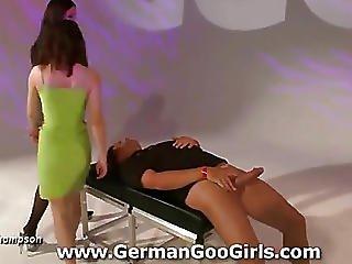 Viktoria Teaches Her Teenie Apprentice How To Be A Fine Bukkake Bitch