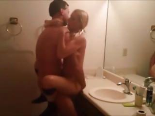 Blonde With Pigtails Bathroom Fuck