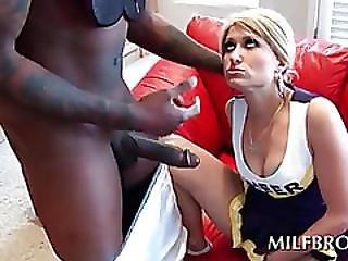 Naughty Mom Enjoys Black Cock Down Her Throat