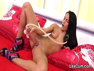 Stunning Czech Bombshell Lexi Dona Pleases And Orgasms