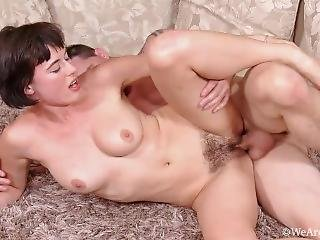 Hairy Teen Pleases Every Way! Closeup, High Definition, Juicy Details