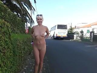Cindy Walks Naked On The Street
