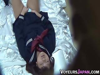 Asian Teen Masturbating Solo While Wearing School Uniform