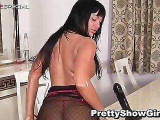 Busty Slut Working On A Huge Dildo Part1
