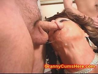 Cum Loving Granny Gang Banged By Bbc