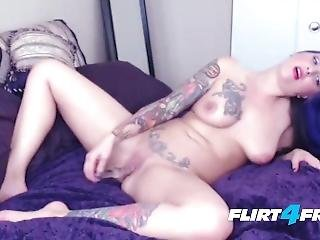 Tatted Hottie Violet Agony Squirts Her Sweet Juices