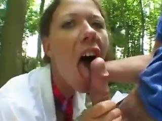 German Girl Eats Cum And Shows Off