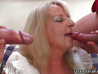 Slutty Granny Loves That Dick