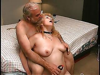 Bdsm, Bedroom, Blonde, Blowjob, Clamped, Mature, Old, Pussy