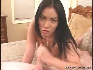 Hot Asian Cim Blowjob