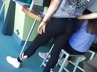 Teens Showing Assets In Yoga Pants
