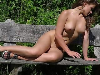 Julia Nude In Forest
