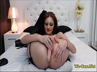 Deepthroat And Anal Masturbation Show