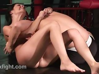 Mixed Wrestling Tough Lil Bitch
