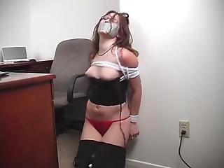 Secretary Bound, Gagged And Stripped