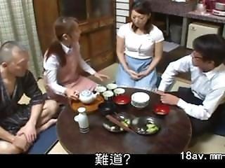 asiático, japonese, milf, joven
