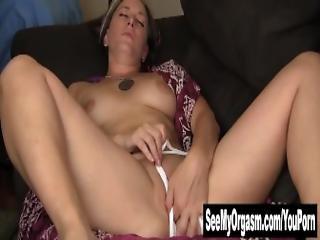 Pierced Azrael Masturbating Her Pussy