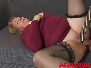 Big Ass Granny Bounces On Fat Pecker Like A Real Pro
