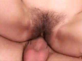 Hairy Brunette Fuck With Young While And After Shower