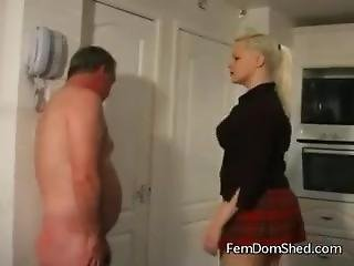 Furious British Mistress Lspas The Shit Out Of Her Worthless Slave