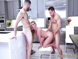 Threesome Teen Sluts Anal Army Boy Meets Busty Stepmom