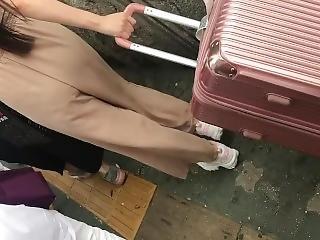 fetishe, japonesa, cuecas, público, rude, transparente