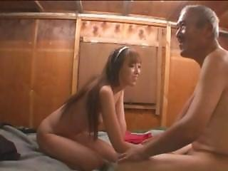 A Japanese Teen Pleasing Old Nasty Homeless Guys