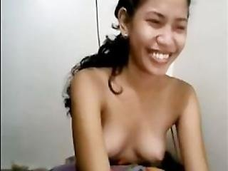 Kinky Filipina Chatting While Topless