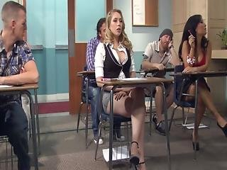 Kagney Linn Karter Horny For Italian Teacher S Cock