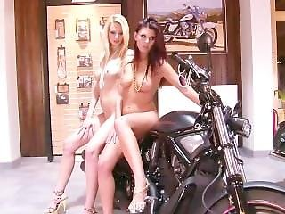 2 Small Tittied Teens At A Bike-show - Julia Reaves