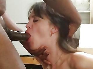 sort, blowjob, interracial, hustru