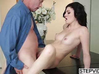 Stepdad Slamming His Sexy Jessica Rex