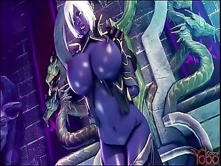 3D, animation, anime, sombre, nique, hentai